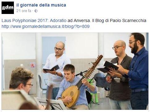 Il Giornale della Musica (28-8-17)